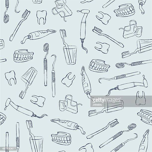 dental seamless - dental equipment stock illustrations