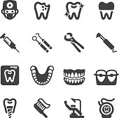Dental Silhouette Icons | EPS10