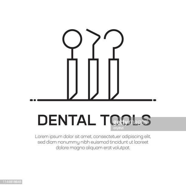 dental tools vector line icon - simple thin line icon, premium quality design element - mouthwash stock illustrations