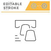 Dental veneer editable stroke line icon