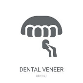 Dental veneer icon. Trendy Dental veneer logo concept on white background from Dentist collection