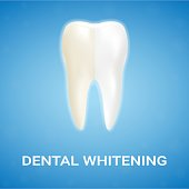 Dental Veneer, Teeth Whitening, Whitening Toothpaste Isolated On A Background. Realistic Vector Illustration