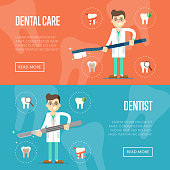 Dental website templates with male dentist