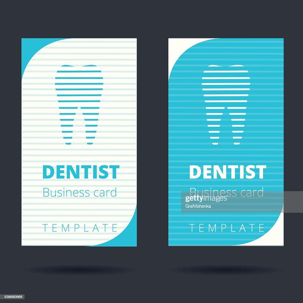 Dentiste Et Stomatologue Modle De Carte Visite Clipart Vectoriel
