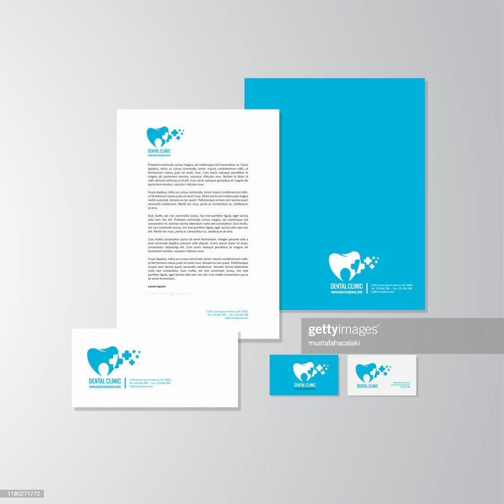 Zahnarzt-Logo und Branding : Stock-Illustration