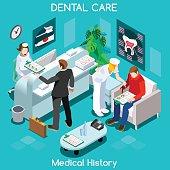 Dentist Patient Medical History Waiting Room Before Medical Visit Hospital