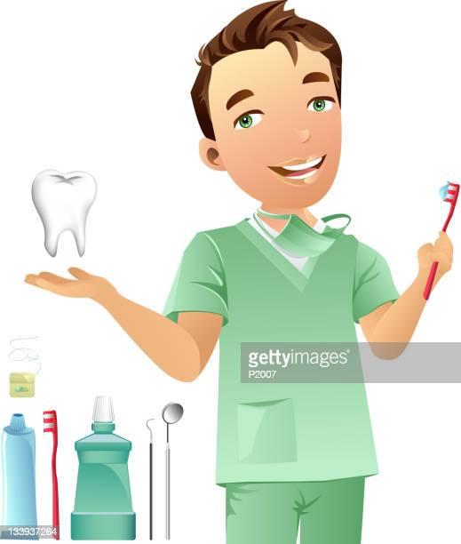 dentist - mouthwash stock illustrations, clip art, cartoons, & icons