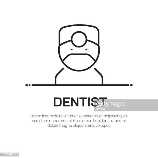 dentist vector line icon - simple thin line icon, premium quality design element - mouthwash stock illustrations