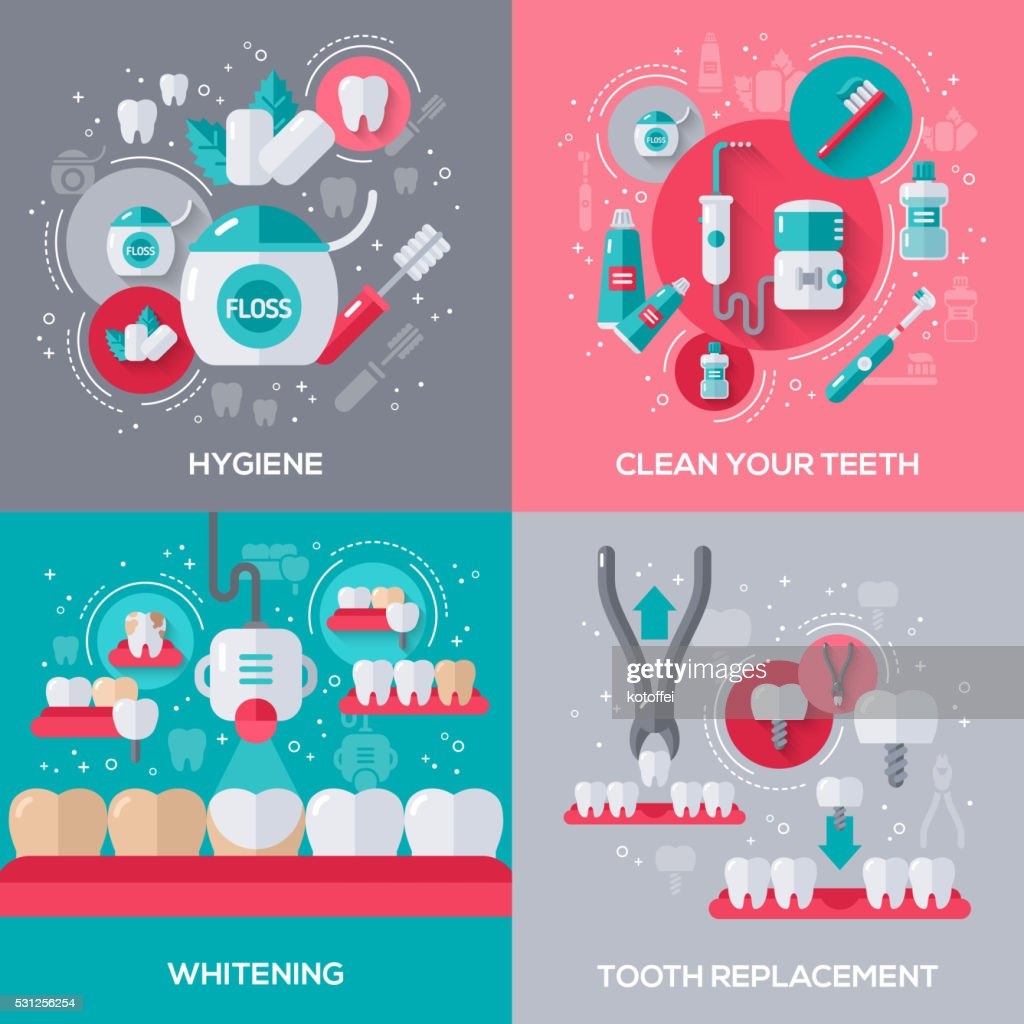 Dentistry Banners Set