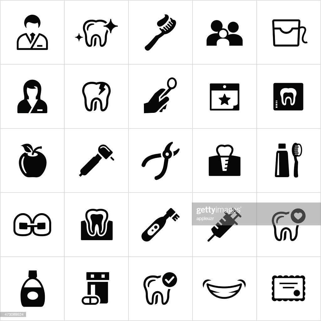 Dentistry Icons : stock illustration