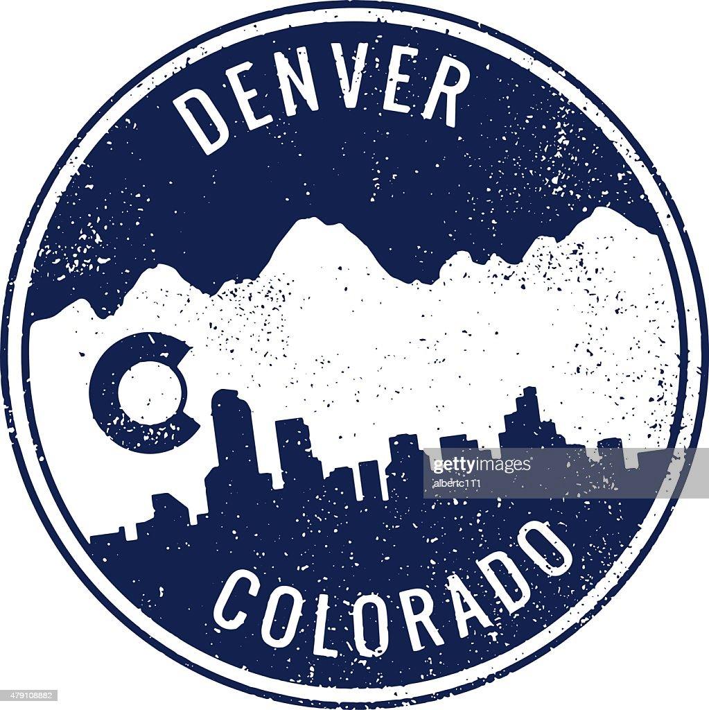 Denver Colorado Cityscape Stamp