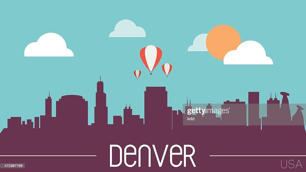 Denver USA skyline silhouette