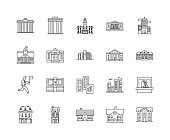 Departament line icons, signs, vector set, outline illustration concept