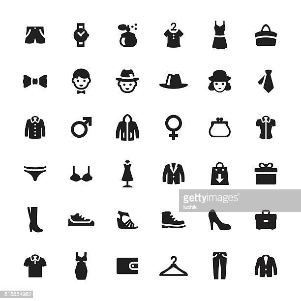 department store vector symbols and icons - underwear stock illustrations, clip art, cartoons, & icons