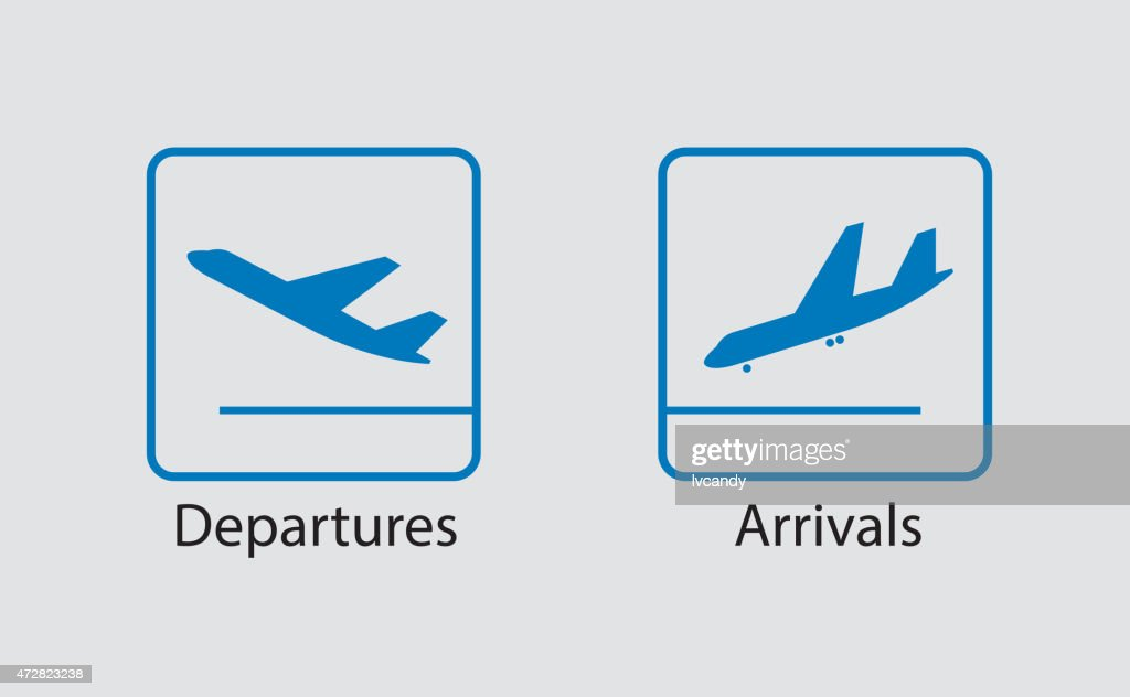 Departures and arrivals symbol