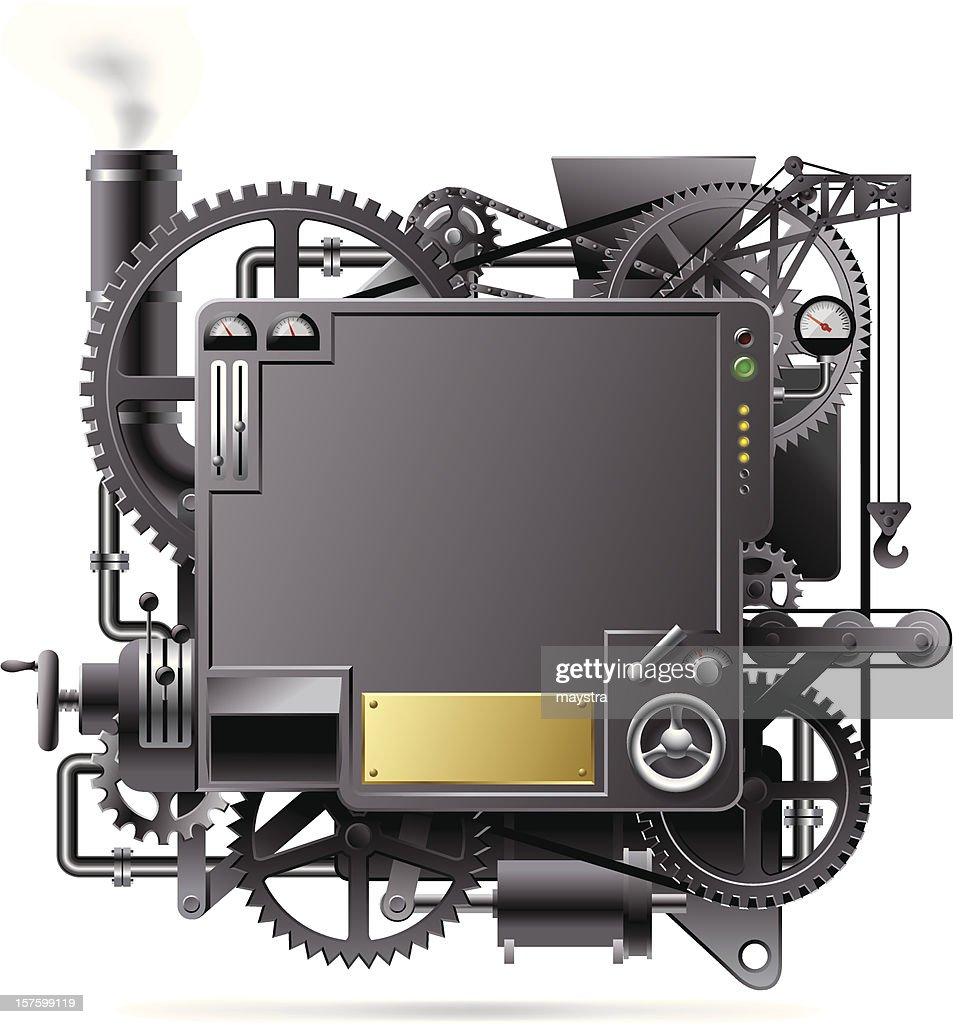 A depiction of a complicated machine