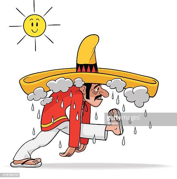 ein deprimierter mexikanische - sombrero stock-grafiken, -clipart, -cartoons und -symbole