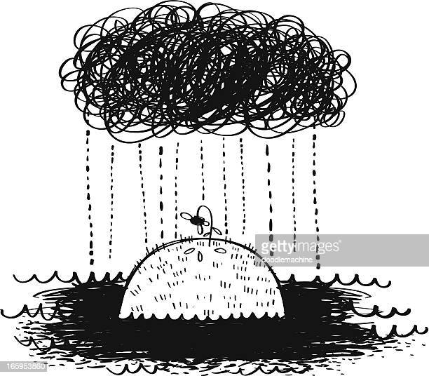depressing rain - water cycle stock illustrations, clip art, cartoons, & icons