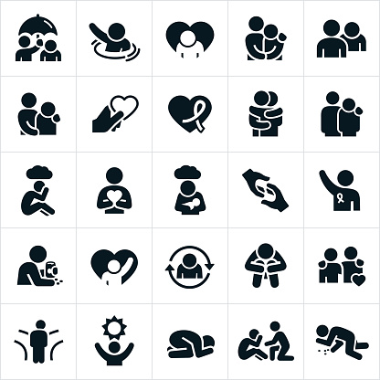 Depression and Anxiety Icons - gettyimageskorea