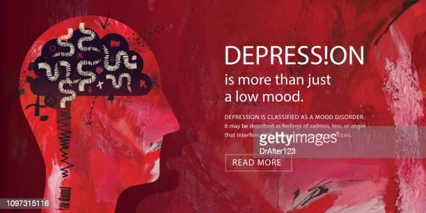 depression concept - despair stock illustrations