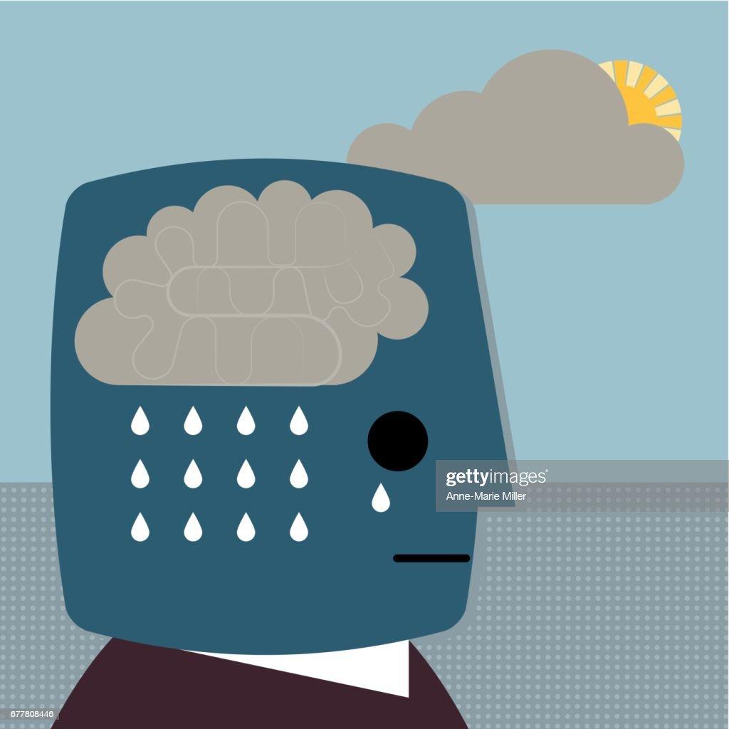 Depression rain cloud