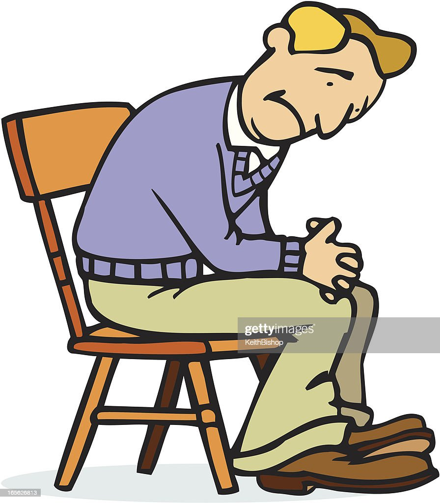 Sad man animated