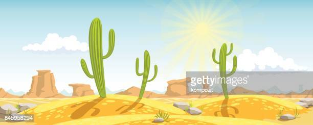 Desert and cactus background