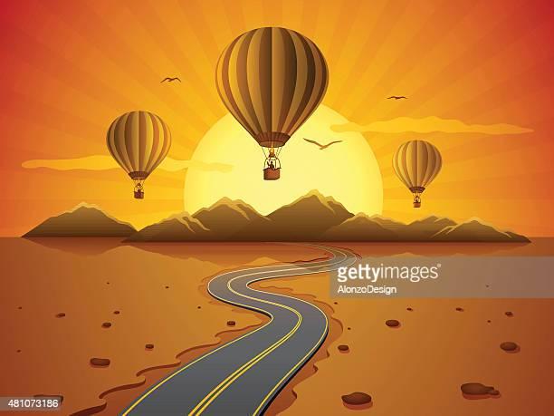Desert and Hot Air Balloons
