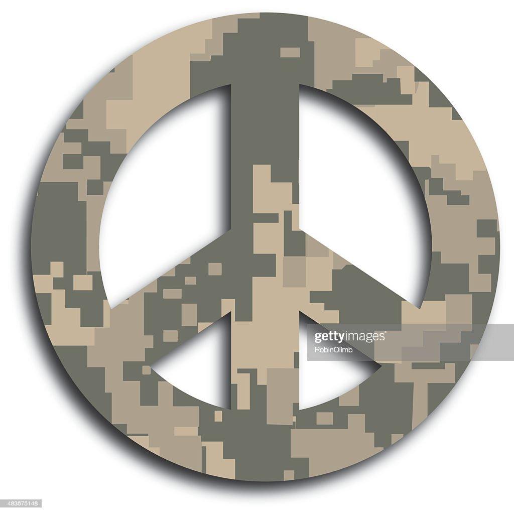 砂漠のカモフラージュ peace サイン ベクトルアート getty images