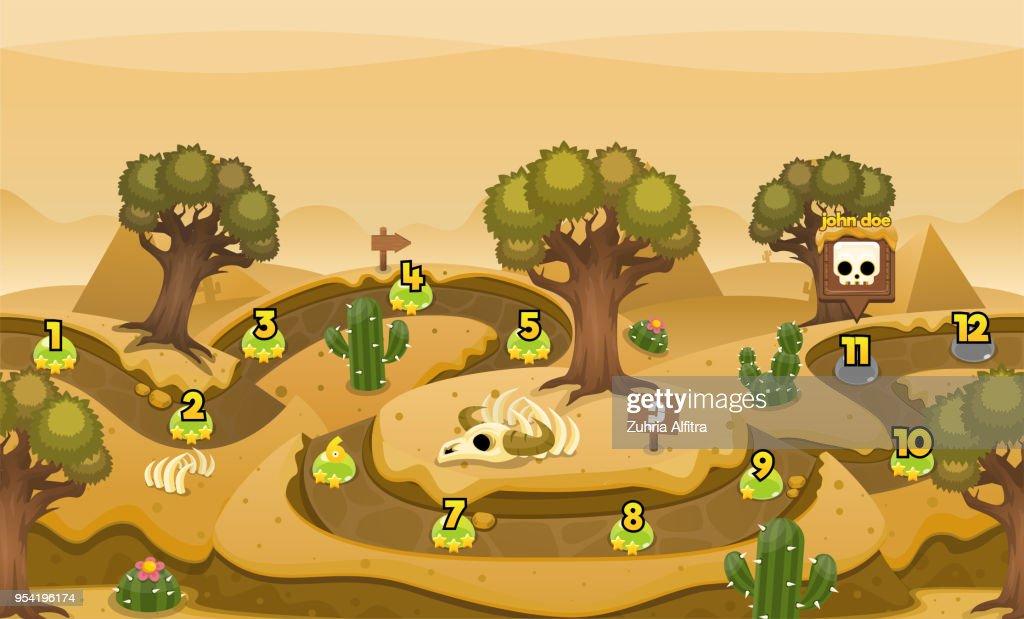 Desert Game Level Map