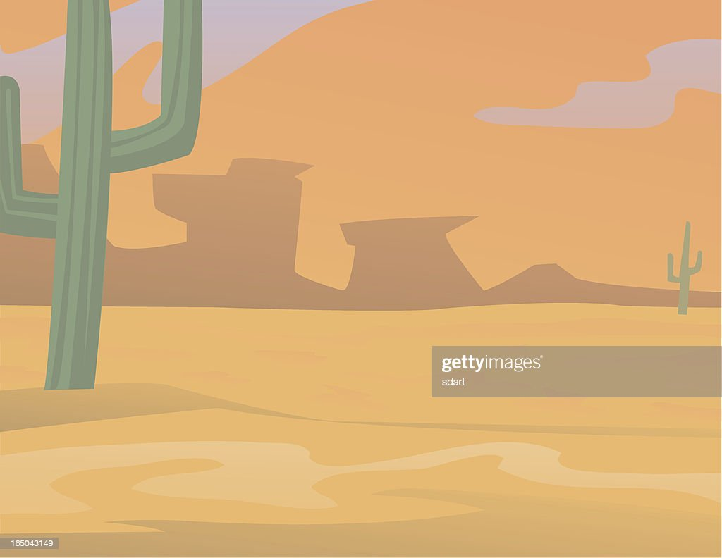 Desert Glow : Vector Art