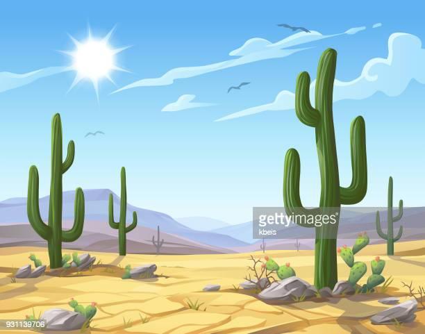 desert landscape - sunny stock illustrations