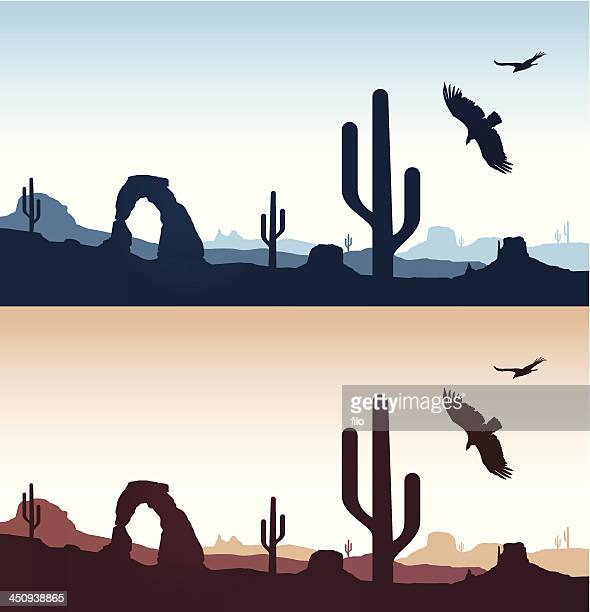 desert landscapes - utah stock illustrations, clip art, cartoons, & icons