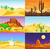 Desert mountains sandstone wilderness landscape background travel vector illustration