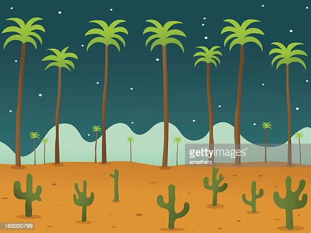 砂漠の夜 - 乾燥気候点のイラスト素材/クリップアート素材/マンガ素材/アイコン素材