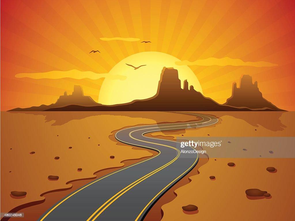 Desert Road : Stock-Illustration