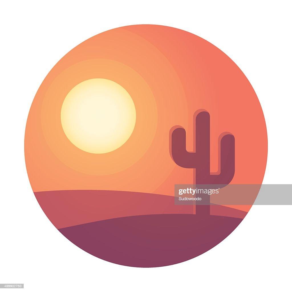 Desert sunset landscape