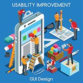 GUI design 02 People Isometric