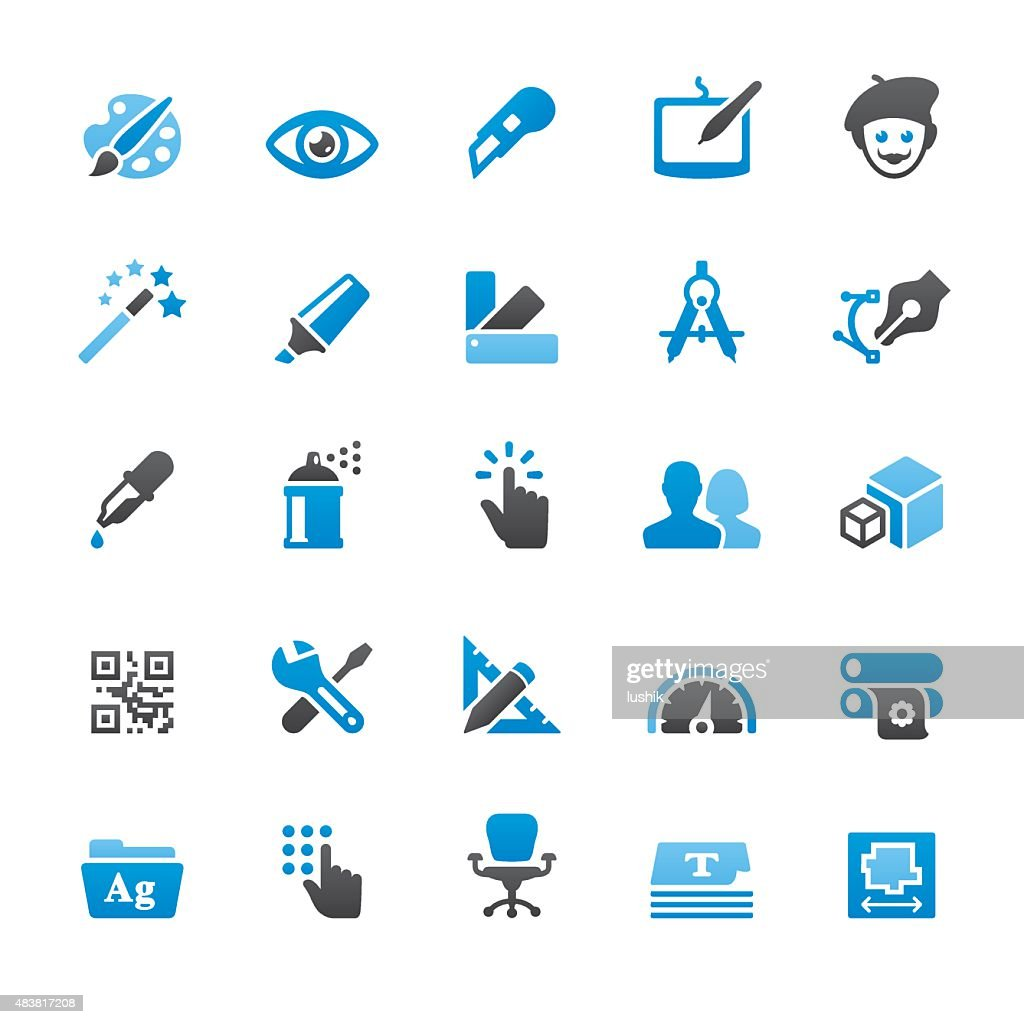 Design and Art related vector icons