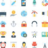 Design and Development Colored Vector Icons 3
