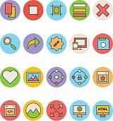 Design and Development Vector Icons 10