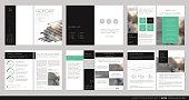 Design annual report, flyer, brochure.