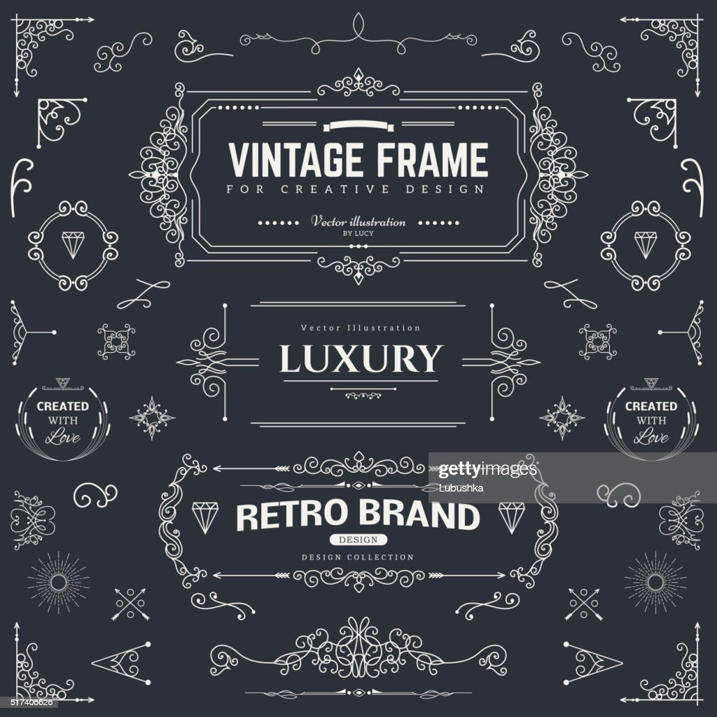 Design collection of vintage patterns