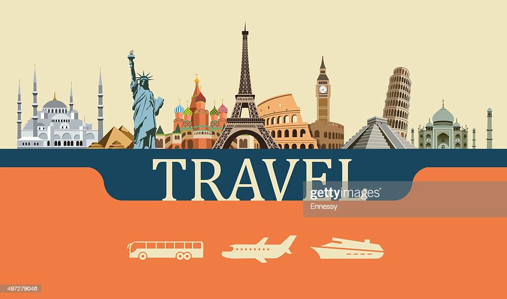 Design Concept of Travel World Landmarks