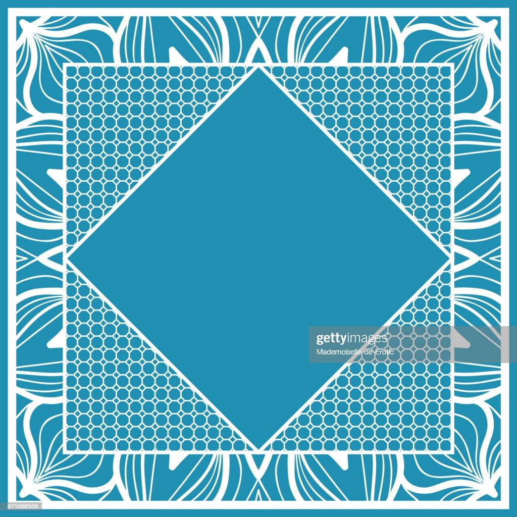 design decorative frame for cutting. vector illustration. lace ornament for border