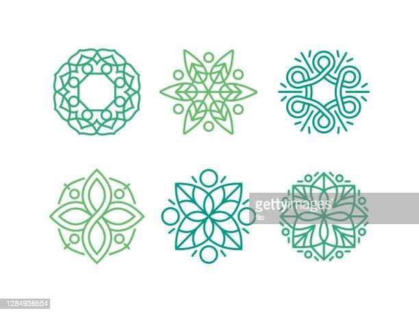 デザイン要素 エンブレム 繁栄シンボル - ケルト風点のイラスト素材/クリップアート素材/マンガ素材/アイコン素材