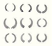 Design element - Laurels and Wreaths