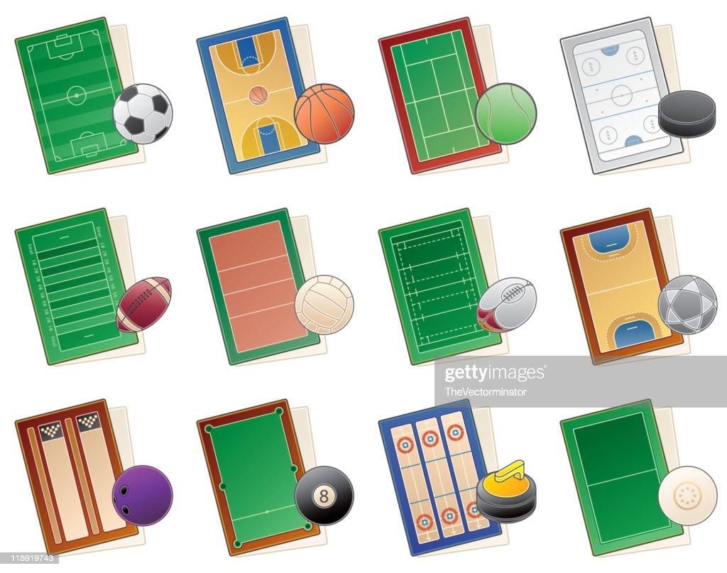 Design Elements 49. Playgrounds Icons Set