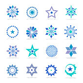 Design elements. Abstract icons set.