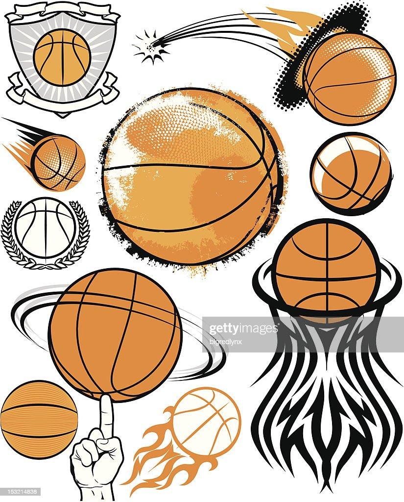 Design Elements - Basketballs